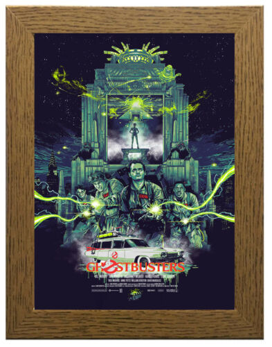 Framed Option Ghost Busters Movie Poster or Canvas Art Print A3 A4 Sizes