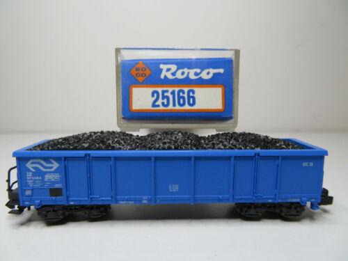 213N//13-Roco N 25166 High Board Wagon Blue Coal Cargo NS Top BNIB