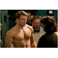 Chris Evans as Capt America shirtless Haley Atwell as Carter 8 x 10 Inch Photo