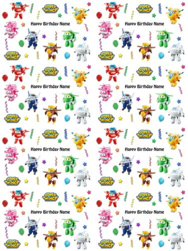 Super Wings Personalised Birthday Gift Wrapping Paper 3 Designs ADD NAME