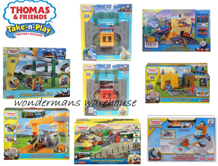 Thomas the Tank Engine & Friends Take N Play Train Sets - Brand New