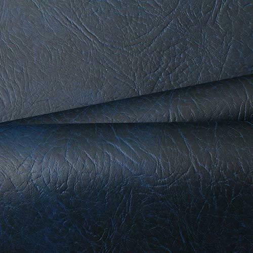 NAVY BLUE HEAVY DUTY UPHOLSTERY FAUX LEATHER/  VINYL/FABRIC/LEATHERETTE/MATERIAL