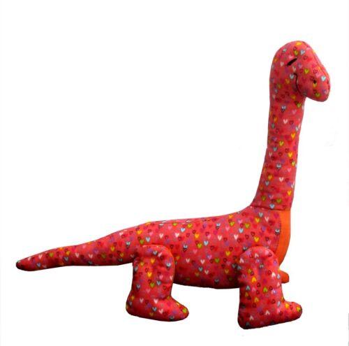 "10/"" diplodocus dinosaur Dippy soft toy dinosaur sewing pattern by pcbangles"