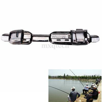 Portable Stainless Steel Fishing Reel Seat Fishing Pole Rod Clip Fitted Geared