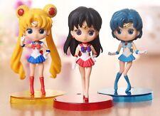 Anime Set 3 Sailor Moon Figure Qposket Petit Vol.1 Mars Mercury New in Box