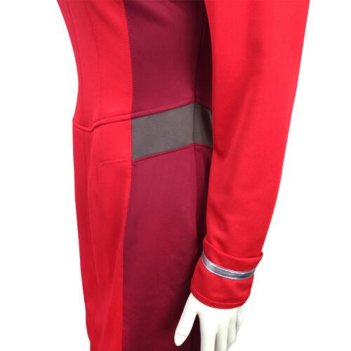 Star Trek Beyond Costume Cosplay Nyota Uhura Red Dress Uniform Costume Handmade