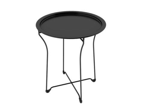 DAR dar Living Metal Tray Side Table Black 38435984 Table NEW