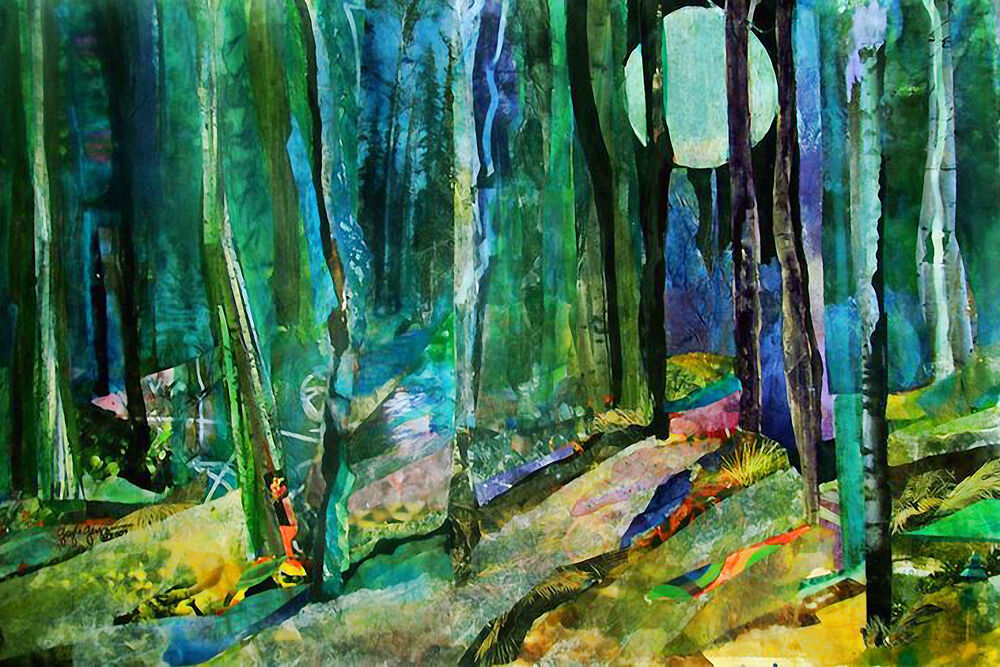 Abstract Forest Collage - CANVAS OR PRINT WALL ART