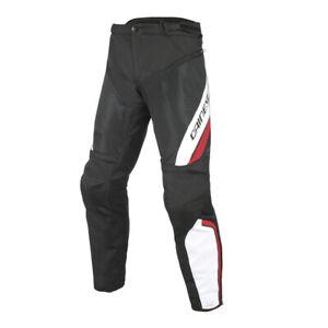 DAINESE-Drake-Air-D-Dry-Sommer-Motorradhose-schwarz-rot-weiss-Gr-56-wasserdicht