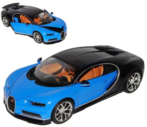 Bugatti Chiron Coupe azul de 2016 1:18 Bburago modelos coches con o sin indiv...