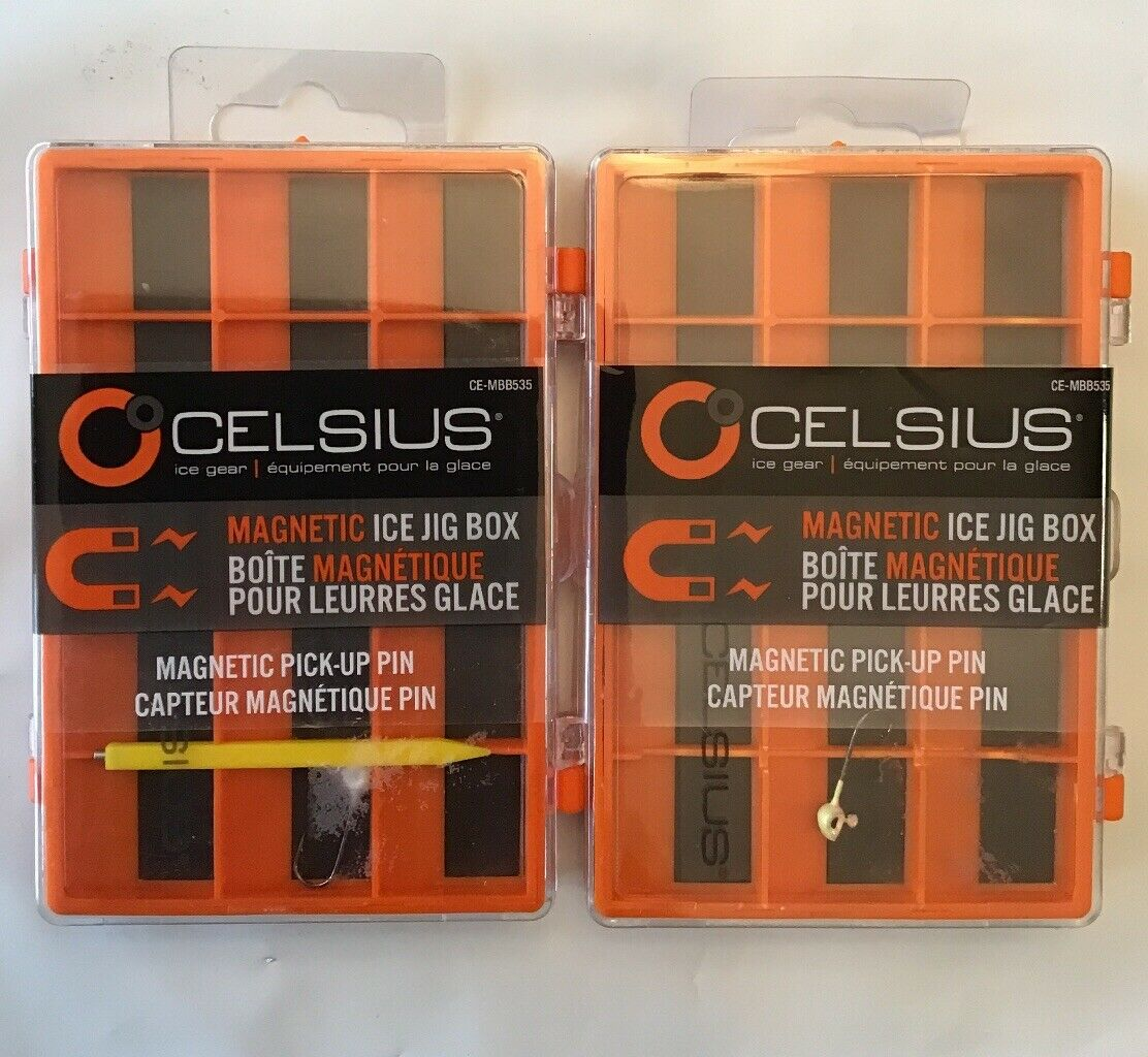 Celsius Magnetic Ice Jig Box  BRAND NEW 3 pack