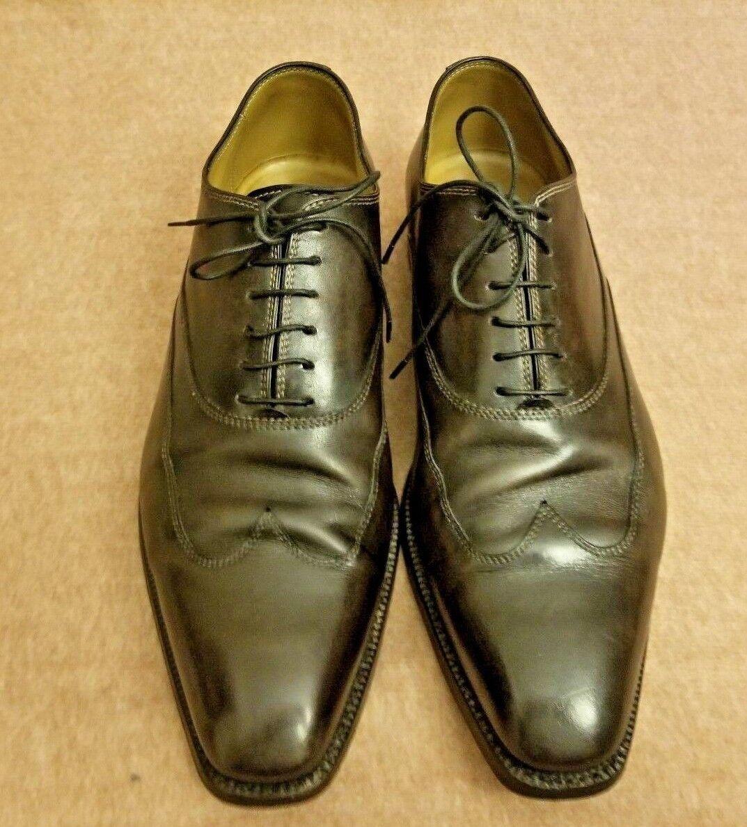 Stefanobi uomo Leather Brown Lace Up Oxford Wingtip Dress Formal Shoes Size 11 Scarpe classiche da uomo