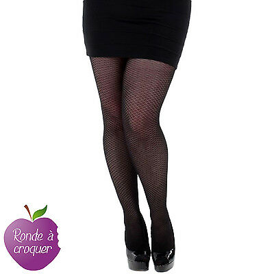 Grande taille - Collant Criss Cross opaque 40 42 44 46 48 50 52 54 56 58 60