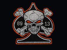 Great New Biker Outlaw Rocker Rockabilly Goth Cafe Racer 13 69 Ace Skull Patch
