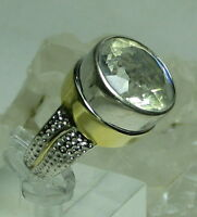 Shopnbc Hq Gem Insider 925 18k Gp 15mm 10kt Round Quartz Doublet Ring Sz 10