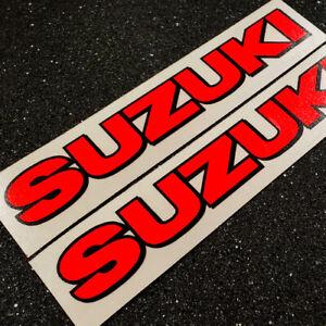 """Suzuki decals sticker 8.25"""" Neon Red 1000 1100 gsxr 85 rmz 600 gsxs 750 drz 450"""