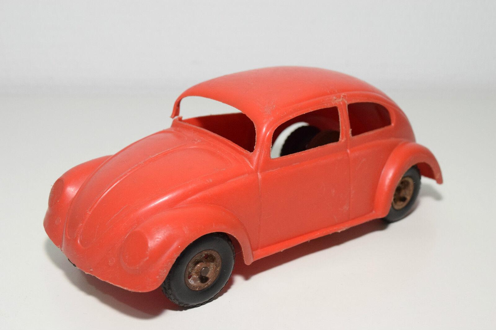 mjuk PLASTIC PLASTIK VW VOLKSWAGEN BEETLE KAFER röd SPLIT FRIKTIONSVINDOR