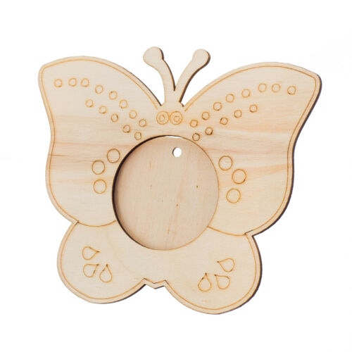 Wooden Butterfly Photo//Picture Frame for Children Paint Decorate Personalise