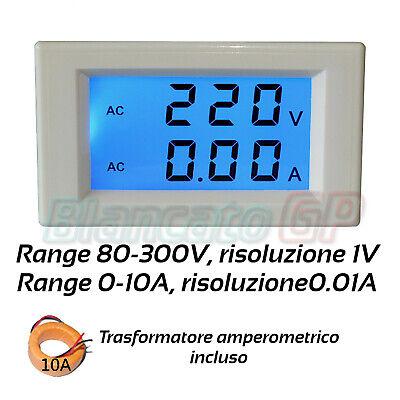 300V 50A Schwarz Voltmeter Und Amperemeter AC Digital LCD Ta Separatem 80V