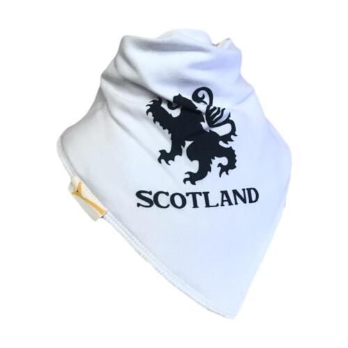 White Scotland Lion Bandana Bib