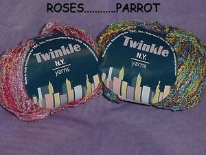 NEW-YORK-YARNS-TWINKLE-VARIOUS-COLORS-FREE-SHIPPING