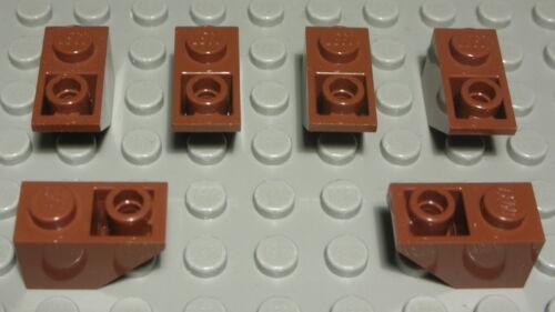 311 LEGO Pietra inclinata negativamente 1x2 NEW MARRONE 6 pezzi
