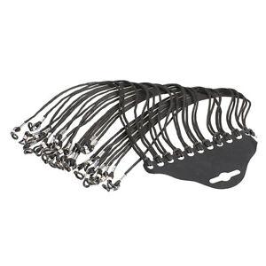 12PCS Eyewear Nylon Eyeglass Cord Reading Glass Neck Strap Holder Black NEW