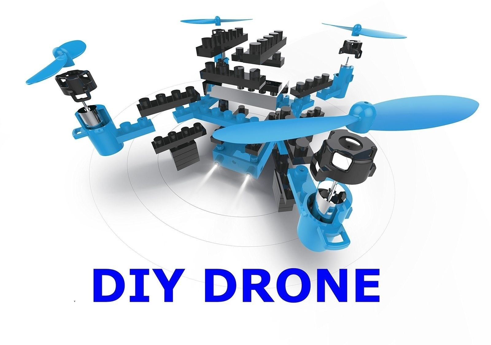 Blu Drone Quadcopter 2.4GHz Remote Control with Flexible Control Movement Movement Movement 940176