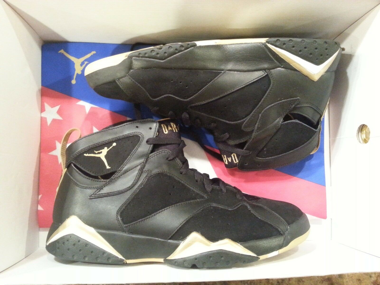 Nike Air Jordan 7 VII Retro Nero Gold GMP Golden Moments Size 12.5. 535357-935