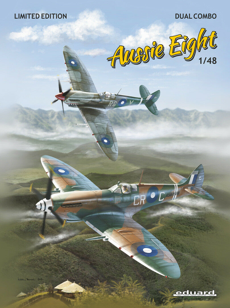 Eduard Ltd Ed 1 48 Spitfire Mk.VIII  Aussie Eight  Two Aircraft Model Kit