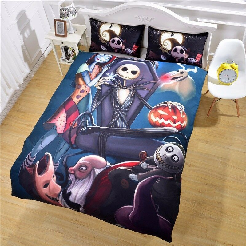 Nightmare Before Christmas Bedding Set Bedclothes No Fading Duvet Cover
