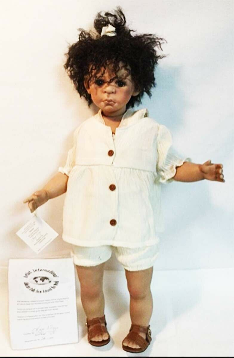 Nuevo 24 en Tanisha Kaye Wiggs Negro AA Muñeca De Porcelana Artista International Ltd Ed