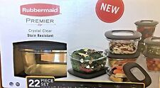 Rubbermaid Premier 22 Piece Storage Container Set w/ Easy Find Lids - Black