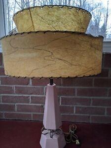 Mid-Century-Vintage-Style-2-Tier-Fiberglass-Lamp-Shade-Modern-Atomic-Retro