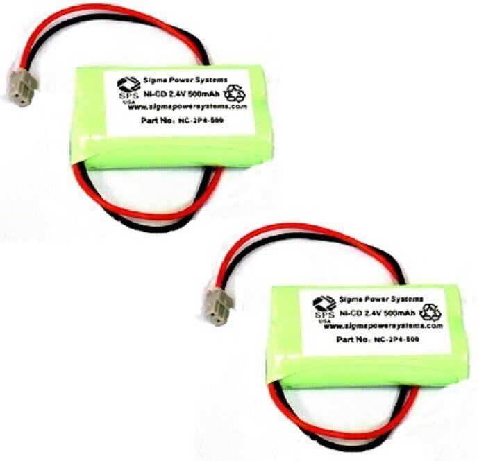 SPS Brand 2.4 V 500 mAh Battery for Uniden BT-904 Cordless Phone (2 PACK)