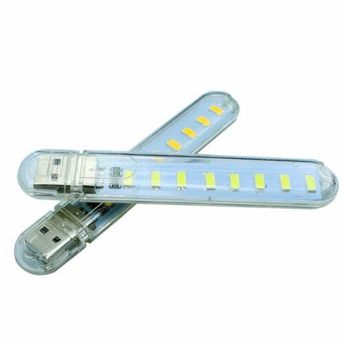 Mobile Power USB LED Lamp 8 Leds LED Lamp Lighting Computer Small Night Light Iy
