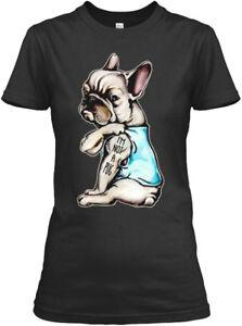 Frenchie-Im-Not-A-Pug-French-Bulldog-Sh-I-039-m-Gildan-Women-039-s-Tee-T-Shirt