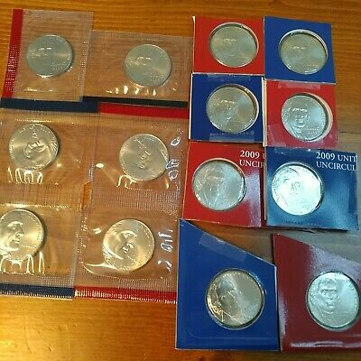 2005 through 2010 SATIN  P/&D Nickels 14 Coins