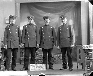 Platte-Negativ-Soldaten-Deutsch-in-Belgien-1915-Neue-Belgien