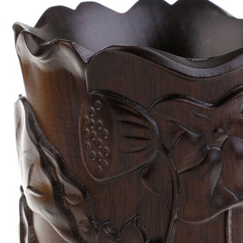 handgeschnitzte Lotus Muster Stift Vase Halter Kalligraphie schreiben Pinsel