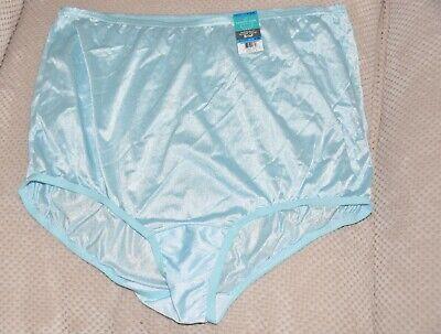 BNWT Vanity Fair NIX C US 9 Silky RAINFOREST AQUA nylon ladies knickers
