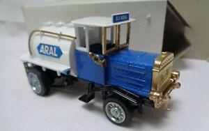 Vintage-Diecast-Ziss-Modelo-Henschel-Bauj-1926-Aral-camion-cisterna