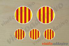 PEGATINA STICKER VINILO Bandera lente Catalunya senyera autocollant aufkleber