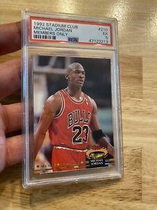 Michael Jordan PSA 5 Stadium Club 1992 #210 Chicago Bulls INVESTMENT Last Dance