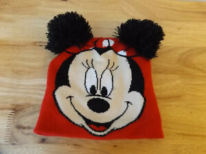 7-13 years NEW Kids Teen Minnie Mouse Girls Winter Knit Cap Hat Beanie