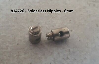 Solderless Cable Nipples 6mm OD Motorcycle Scooter Quad Mower Throttle Choke x 2