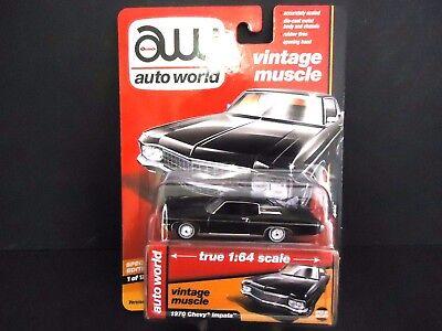 `70 Chevrolet Impala  Black 1970 **RR** Auto World Muscle Hobby 1:64 OVP