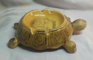 Vintage-Florida-Souvenir-Ceramic-Turtle-Ashtray-4-5-034-x-6-5-034-approx