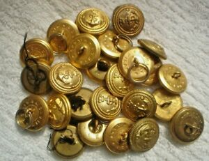 25-X-2-CM-SMALL-S-H-GOLD-AUSTRALIAN-MILITARY-2-CM-BUTTONS-NAVY