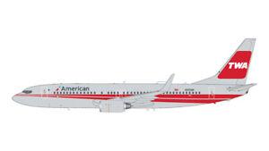 GEMINI JETS G2AAL473 1/200 AMERICAN AIRLINES B737-800 TWA HERITAGE LIVERY N915NN